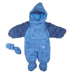 Combinaison polaire - bébé garçon - bleu