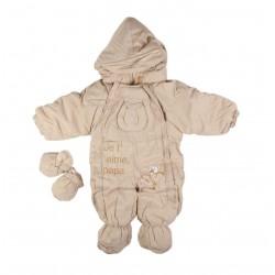 Combinaison polaire - bébé garçon - beige