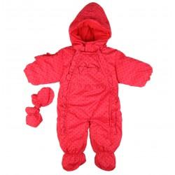 Combinaison polaire - bébé fille - rouge
