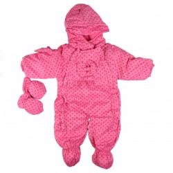 Combinaison polaire - bébé fille - rose