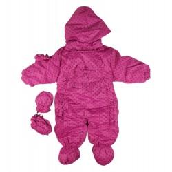 Combinaison polaire - bébé fille - violet