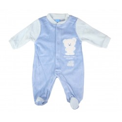 Grenouillère nounours - bébé garçon - bleu