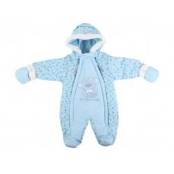 Combinaison nounours - bébé garçon - bleu