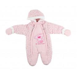 Combinaison nounours - bébé fille - rose