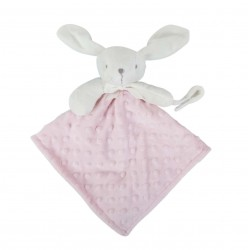 Doudou attache tétine rose bébé fille