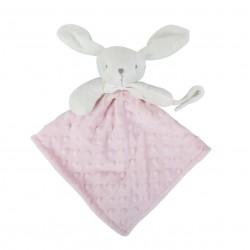 Doudou attache tétine rose bébé fille