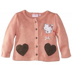 Gilet charmmykitty à motif cœur et nœud - bébé fille - rose